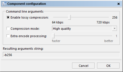 The new config dialog for external codecs