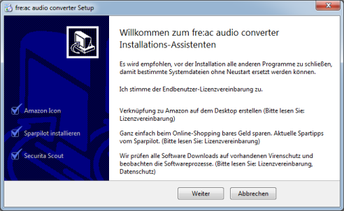 The GIGA.de installer in action
